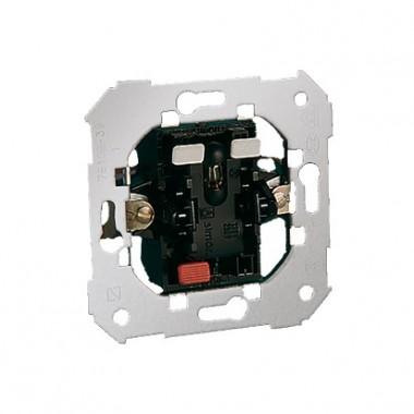 Łącznik schodowy z sygnalizacją załączenia - kolor czerwony (mechanizm), 10AX, 250V~, szybkozłącza 75202-39