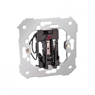 Łącznik hotelowy podwójny z podświetleniem (mechanizm), 10 (1.5) A, 250V~, wsuwka 26550-39