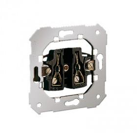 Gniazdo wtyczkowe pojedyncze bez uziemienia (mechanizm) ~ śrubowe 75431-39