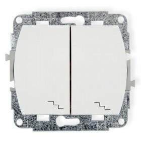 Mechanizm łącznika podwójnego schodowego Karlik TREND WP-33 biały