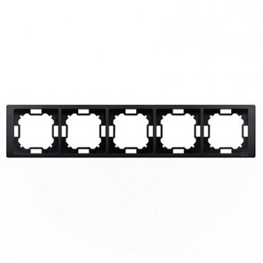 Ramka 5-krotna NEOS – uniwersalna poziom i pion, grafit matowy BMRC5/28