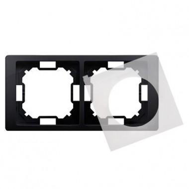 Ramka 2-krotna NEOS do wersji bryzgoszczelnej IP44 z kompletem uszczelek, grafit matowy BMRC2B/28