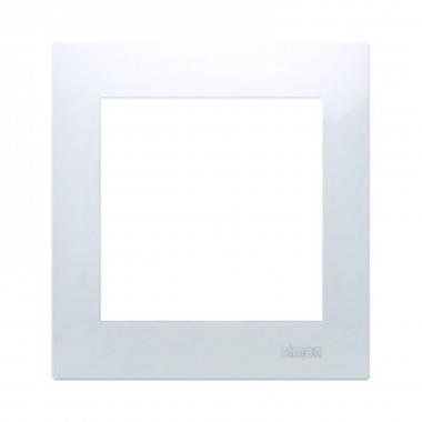 Ramka 1-krotna PREMIUM do puszek karton-gips IP20 / IP44, biały DRK1/11