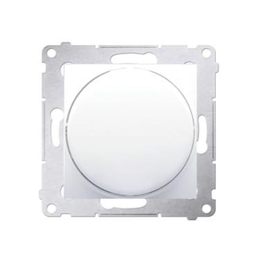 Ściemniacz obrotowy do LED ściemnialnych 230 V (moduł) 1–100 W, biały. Maksymalna ilość zródeł LED - 10 szt. DS9L.01/11