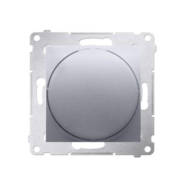 Ściemniacz obrotowy do LED ściemnialnych 230 V (moduł) 2–250 W, srebrny mat. Maksymalna ilość zródeł LED - 10 szt. DS9L.01/43