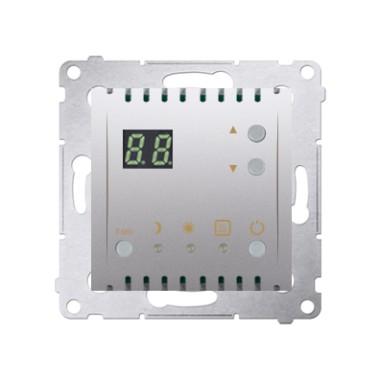 Regulator temperatury z wyświetlaczem z czujnikiem wewnętrznym (moduł) 16(2) A, 230V~, srebrny mat DTRNW.01/43