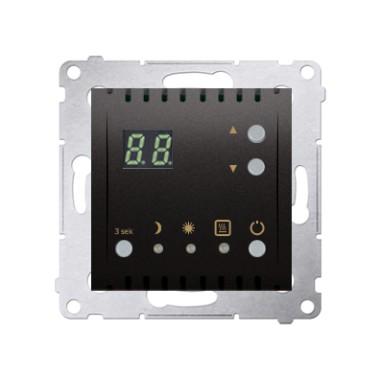 Regulator temperatury z wyświetlaczem z czujnikiem wewnętrznym (moduł) 16(2) A, 230V~, antracyt DTRNW.01/48