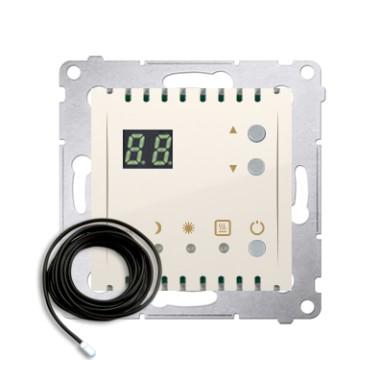 Regulator temperatury z wyświetlaczem z czujnikiem zewnętrznym (moduł) 16(2) A, 230V~, krem  *W komplecie czujnik zewnętrzny (so