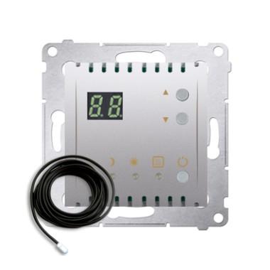 Regulator temperatury z wyświetlaczem z czujnikiem zewnętrznym (moduł) 16(2) A, 230V~, złoty mat  *W komplecie czujnik zewnętrzn