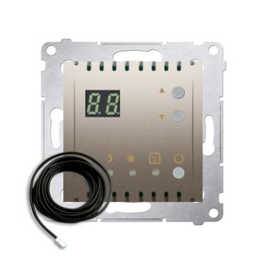 Regulator temperatury z wyświetlaczem z czujnikiem zewnętrznym (moduł) 16(2) A, 230V~, srebrny mat  *W komplecie czujnik zewnętr