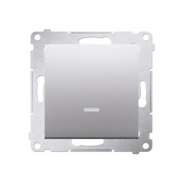 Wyłącznik schodowy bez piktogramu podświetlany SIMON 54 - srebrny DW8L.01/43