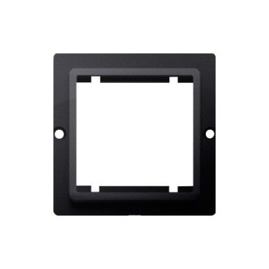 Adapter (przejściówka) na osprzęt standardu 45 × 45 mm. Montaż do puszki na wkręty, grafit matowy BMA45/28