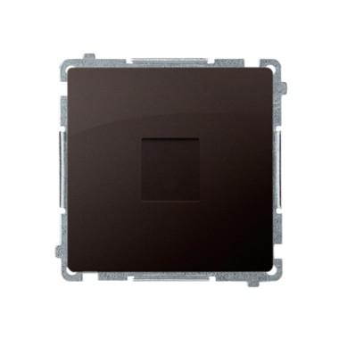 Zaślepka ramki (moduł). Mocowanie za pomocą łapek lub wkrętów, czekoladowy BMPS.01/47