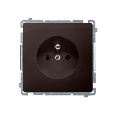 Gniazdo wtyczkowe z uziemieniem (moduł) ~  czekoladowy BMGZ1.01/47