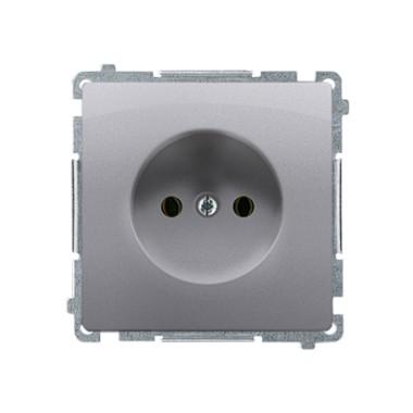 Gniazdo wtyczkowe bez uziemienia (moduł) ~  stal inox BMG1.01/21