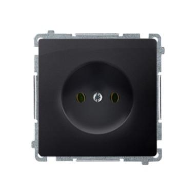 Gniazdo wtyczkowe bez uziemienia (moduł) ~  grafit matowy BMG1.01/28