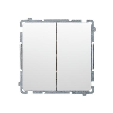 Łącznik schodowy podwójny (moduł) 10AX, 250V~,  biały BMW6/2.01/11