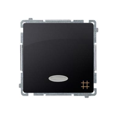 Łącznik krzyżowy z podświetleniem (moduł) 10AX, 250V~, szybkozłącza, grafit matowy BMW7L.01/28