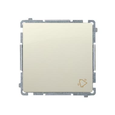 Przycisk dzwonek (moduł) 16AX, 250V~, szybkozłącza, beż BMD1A.01/12