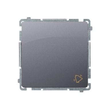 Przycisk dzwonek (moduł) 16AX, 250V~, szybkozłącza, srebrny mat BMD1A.01/43
