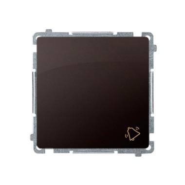 Przycisk dzwonek (moduł) 16AX, 250V~, szybkozłącza, czekoladowy BMD1A.01/47