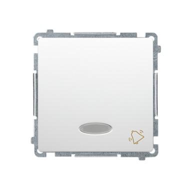 Przycisk dzwonek z podświetleniem (moduł) 10AX, 250V~, szybkozłącza, biały BMD1L.01/11