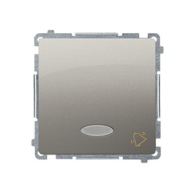 Przycisk dzwonek z podświetleniem (moduł) 10AX, 250V~, szybkozłącza, satynowy BMD1L.01/29