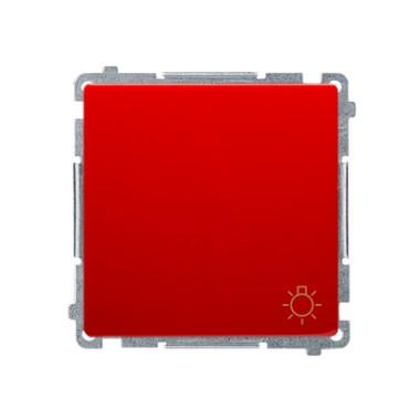 Przycisk światło (moduł) 10AX, 250V~, szybkozłącza, czerwony BMS1.01/22