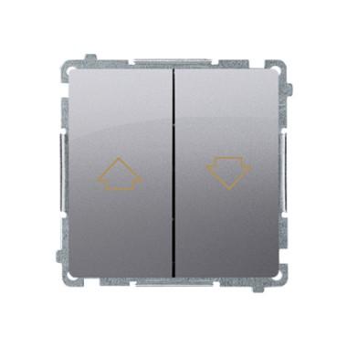 Przycisk żaluzjowy (moduł) 10AX, 250V~,  stal inox BMZ1.01/21