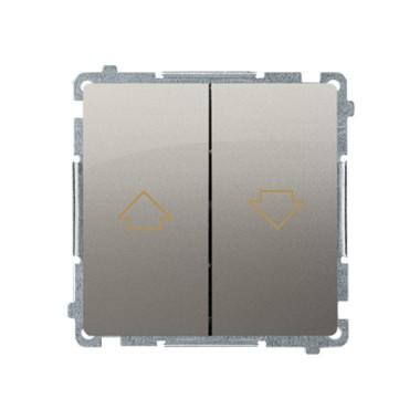 Przycisk żaluzjowy (moduł) 10AX, 250V~,  satynowy BMZ1.01/29