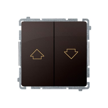Przycisk żaluzjowy (moduł) 10AX, 250V~,  czekoladowy BMZ1.01/47