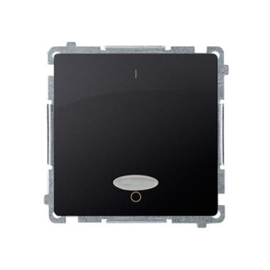 Łącznik dwubiegunowy z podświetleniem (moduł) 10AX, 250V~, szybkozłącza, grafit matowy BMW2L.01/28