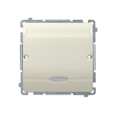 Łącznik hotelowy pojedynczy z podświetleniem, Imax 10 (2) A, beż BMWH1.02/12