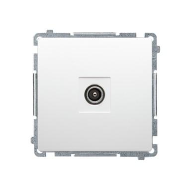 Gniazdo antenowe pojedyncze końcowe (moduł), biały   (zastępuje BMAK1.01/..) BMAK3.01/11