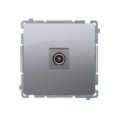 Gniazdo antenowe pojedyncze końcowe (moduł), srebrny mat   (zastępuje BMAK1.01/..) BMAK3.01/43