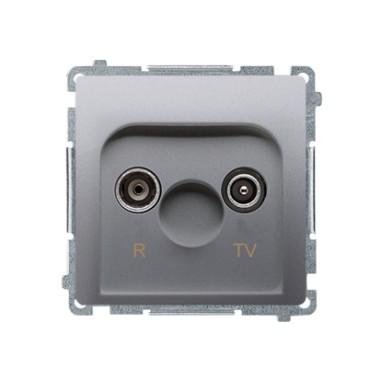 Gniazdo antenowe R-TV końcowe, separowane (moduł), srebrny mat BMZAR1/1.01/43
