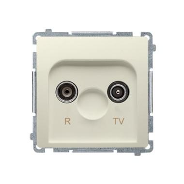 Gniazdo antenowe R-TV przelotowe (moduł), tłumienie 10 dB, beż BMZAP10/1.01/12