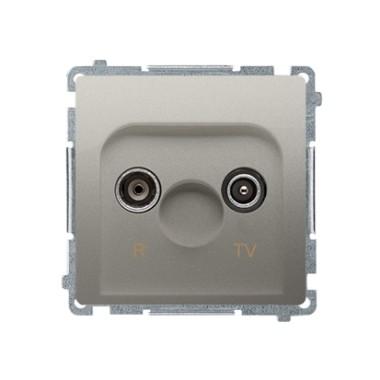 Gniazdo antenowe R-TV zakończeniowe do gniazd przelotowych (moduł), satynowy BMZAK10/1.01/29