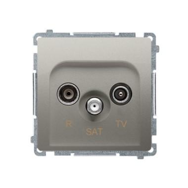 Gniazdo antenowe R-TV-SAT przelotowe (moduł), satynowy BMZAR-SAT10/P.01/29