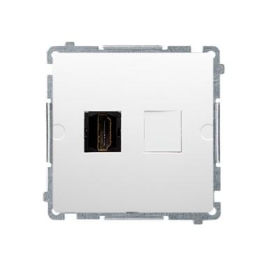 Gniazdo HDMI pojedyncze (moduł), biały BMGHDMI.01/11