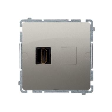 Gniazdo HDMI pojedyncze (moduł), satynowy BMGHDMI.01/29