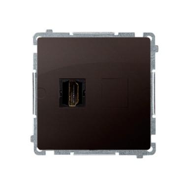 Gniazdo HDMI pojedyncze (moduł), czekoladowy BMGHDMI.01/47