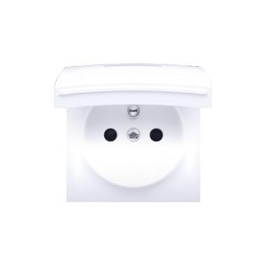Pokrywa gniazda pojedynczego - klapka biała IP44, biały 82068K-30
