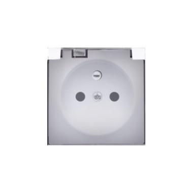 Pokrywa gniazda pojedynczego - klapka transparentna IP44, biały 82068KD-30