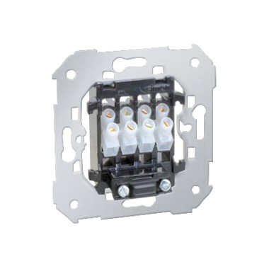 Gniazdo głośnikowe 4x2,5mm?/ Wypust kablowy 380V~ (mechanizm) 75801-39