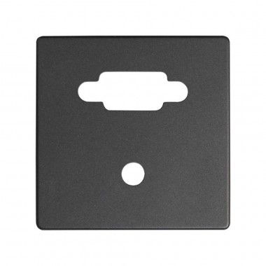 Pokrywa do gniazda VGA + Mini Jack, grafit 8200091-038