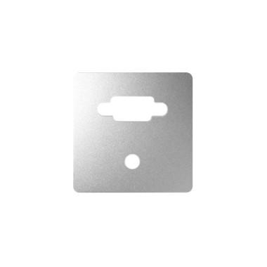 Pokrywa do gniazda VGA + Mini Jack, aluminium 8200091-093