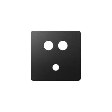 Pokrywa gniazda Mini jack + 2 RCA, grafit 8201092-038
