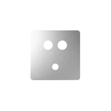 Pokrywa gniazda Mini jack + 2 RCA, aluminium 8201092-093