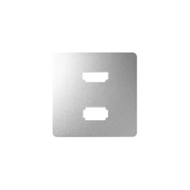 Pokrywa do gniazda USB+HDMI, aluminium 8201095-093
